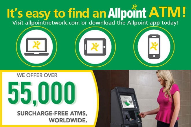 Allpoint – Your Surcharge FREE ATM Network