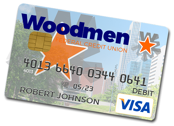 Woodmen Federal Credit Union VISA Check card